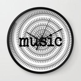 Sol keys and music Wall Clock