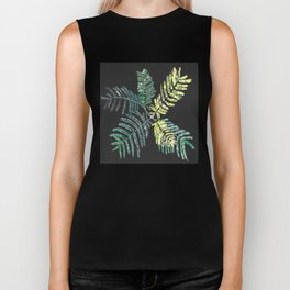 Feathery leaves Biker Tank