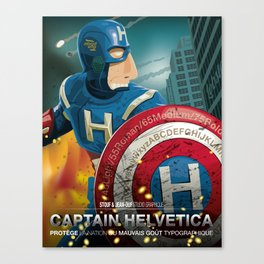 Captain Helvetica Canvas Print