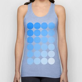 Blue Circle Color Chart Unisex Tank Top