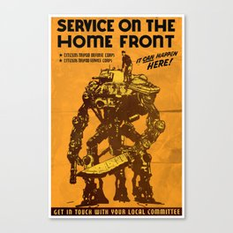 SERVICE ON THE HOMEFRONT - GMB CHOMICHUK Canvas Print