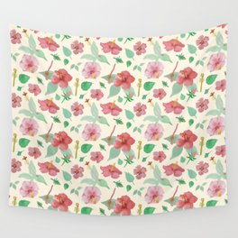 Hibiscus Pattern Wall Tapestry