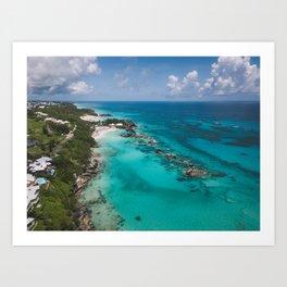 Aerial Beach Art Print