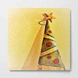 minimal Christmas tree ornament Metal Print