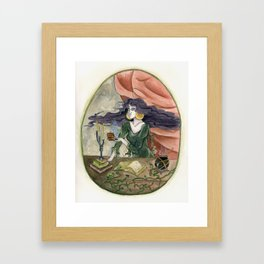 The Erl Witch at Work Framed Art Print