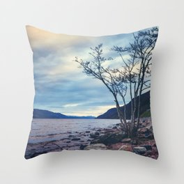 Daylight Leaving Loch Ness Throw Pillow