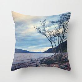 Daylight Leaving Loch Ness Throw Pillow