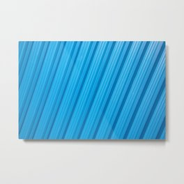 Stripes II - Blue Metal Print