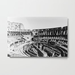 B/W Photo of Colosseum by Larry Simpson Metal Print