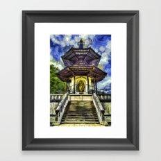 The Pagoda Vincent Van Gogh Framed Art Print