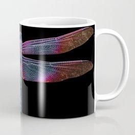 Day Glow Dragonfly on Black Coffee Mug