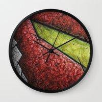 samus Wall Clocks featuring Samus by chris panila