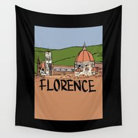 florence Wall Tapestries featuring Florence by Logan_J