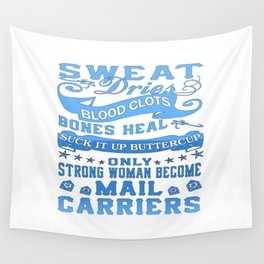 Mail Carrier Woman Wall Tapestry