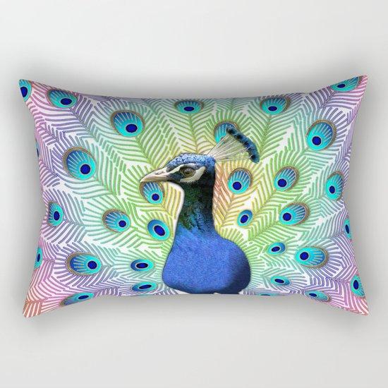 Colorful Peacock Rectangular Pillow