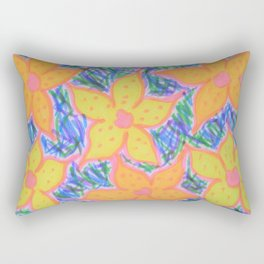 Refreshing Summer Flowers Rectangular Pillow