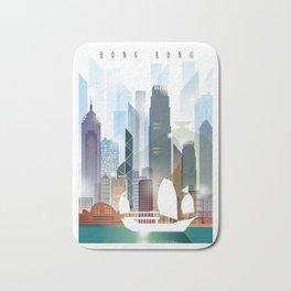 The city skyline of Hong Kong Bath Mat