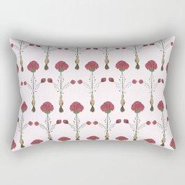 Meg's Carnations Pattern Rectangular Pillow