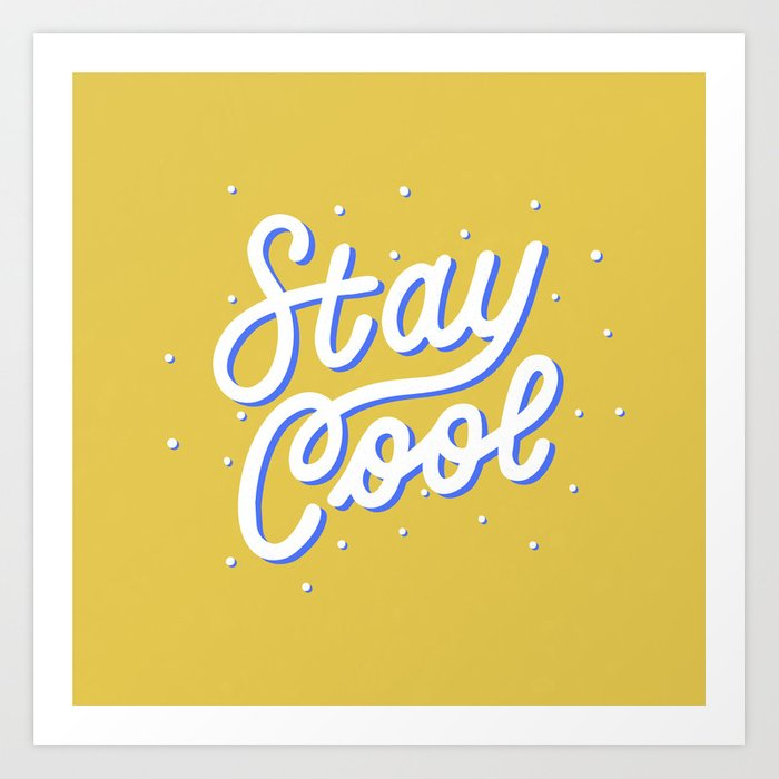 Stay Cool  White  Blue