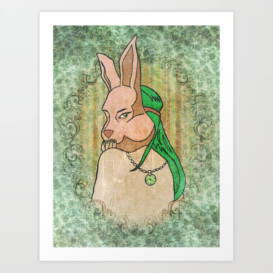 Follow the White Rabbit Art Print