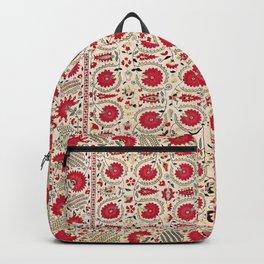 Ura Tube Bokhara Uzbekistan Suzani Embroidery Print Backpack