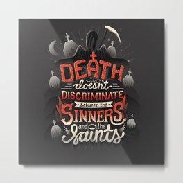Sinners and Saints Metal Print