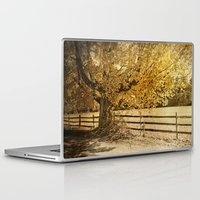 kerouac Laptop & iPad Skins featuring Autumn Leaves by Elke Meister