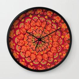 Mandala on copper plate 2 Wall Clock