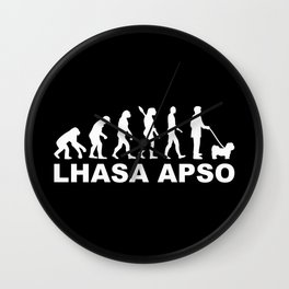 Lhasa Apso evolution Wall Clock