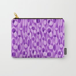 Purple Mid Century Modern Oval Geometric Carry-All Pouch
