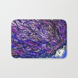 Girl With Space Hair Bath Mat