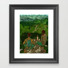 Mountains in Romania Framed Art Print