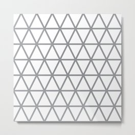 Grey Triangle Pattern 2 Metal Print