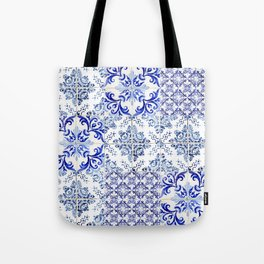 Azulejo VIII - Portuguese hand painted tiles Tote Bag