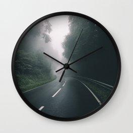 misty road Wall Clock