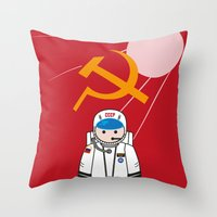 soviet Throw Pillows featuring SOVIET by OSCAR GBP