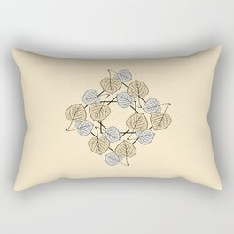 Dry Aspen Leaves in Squares 2 Rectangular Pillow