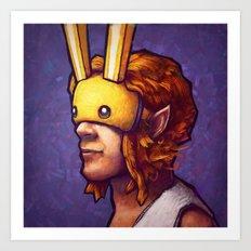 Bunny Hood Art Print