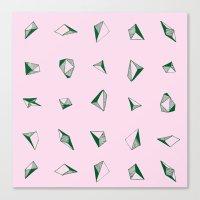 diamonds Canvas Prints featuring DIAMONDS by ZARYA