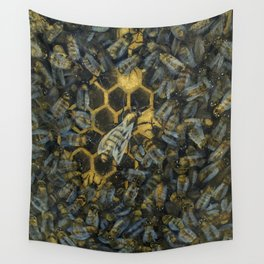 The Golden Hive Wall Tapestry