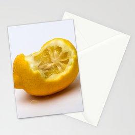 Keep smiling. Half eaten lemon Stationery Cards