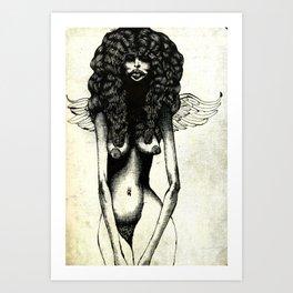 Angel Sketch #1 (nude) Art Print