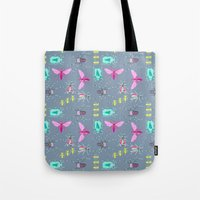 insects Tote Bags featuring Insects by Micaela Zahner Design