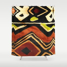 Africa Design Fabric Texture Shower Curtain