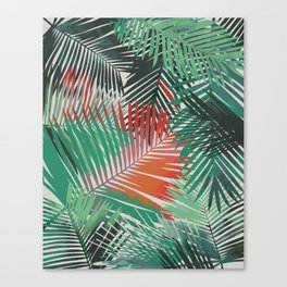 Tropical Palm Fronds Yolanda Fronda Canvas Print