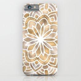 Mandala Multi Metallic in Gold Silver Bronze Copper iPhone Case