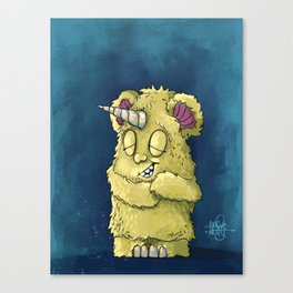 Monster Snuggles Canvas Print