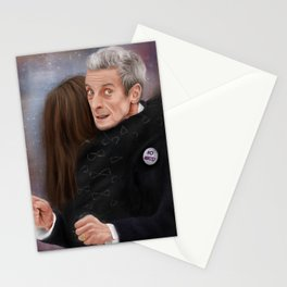 12th Doctor - Not a hugging person Stationery Cards