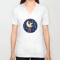 starry night V-neck T-shirts featuring Starry Night by Roberta Jean Pharelli