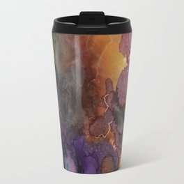 Abstract in Purple and Orange Travel Mug